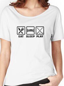 Eat sleep play field hockey Women's Relaxed Fit T-Shirt