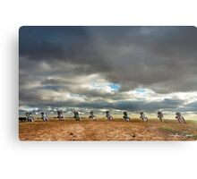 Cadillac Ranch Horizon Metal Print