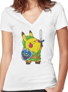PikaLink Women's Fitted V-Neck T-Shirt