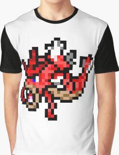 Pokemon 8-Bit Pixel Red Gyarados 130 Graphic T-Shirt