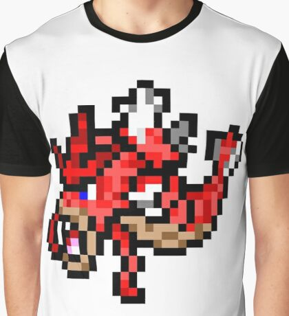 Pokemon 8-Bit Pixel Red Gyarados 130 Graphic T-Shirt