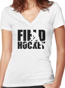 Field hockey Women's Fitted V-Neck T-Shirt