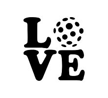Floorball love Photographic Print