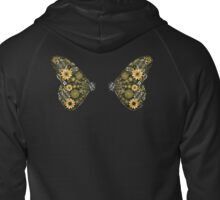 Cog and Gear Butterfly Wing Back Shirt Zipped Hoodie