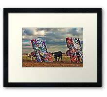 Cadillac Cows Framed Print