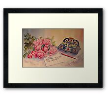 Roses of Picardy Framed Print