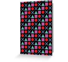 Gamer Pattern Solid Black Greeting Card