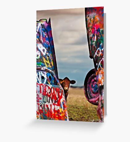 Cadillac Cows III Greeting Card