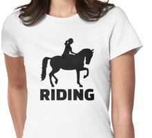 Horse riding Womens Fitted T-Shirt