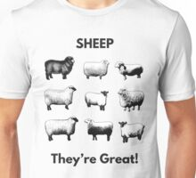 Sheep- They're Great! Unisex T-Shirt