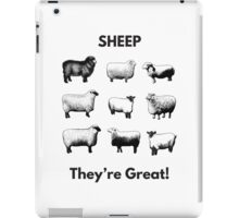Sheep- They're Great! iPad Case/Skin