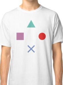 Gamer Pattern Solid White Classic T-Shirt