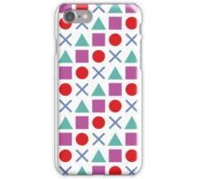 Gamer Pattern Solid White iPhone Case/Skin