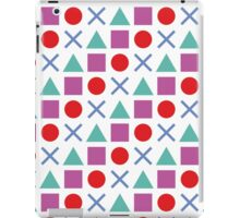 Gamer Pattern Solid White iPad Case/Skin