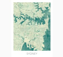 Sydney Map Blue Vintage Unisex T-Shirt