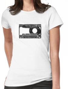 Old Cassette Womens Fitted T-Shirt