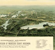 Oconomowoc & Waukesha Wisconsin (1890) Sticker