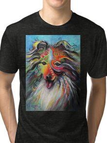 Boho Sheltie Tri-blend T-Shirt