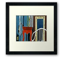 A Spider on the Stage Framed Print