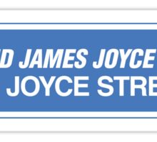 James Joyce Street Sign, Dublin, Ireland Sticker