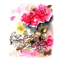 Roses card Photographic Print