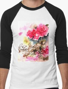 Roses card Men's Baseball ¾ T-Shirt