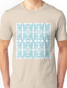 Blue Abstract Sketch Pattern Unisex T-Shirt