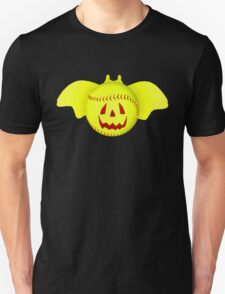 Novelty Halloween Softball Bat Mashup Unisex T-Shirt