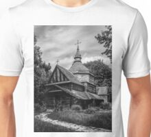 Fear Old Wooden Church in Ukraine Unisex T-Shirt