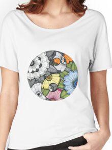 Flower Ying Yang Women's Relaxed Fit T-Shirt