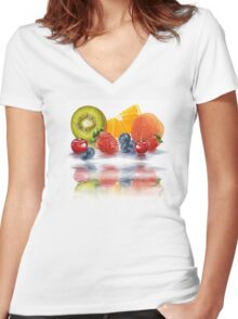 Fresh fruit Women's Fitted V-Neck T-Shirt