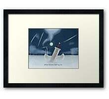 Cloud Strife - Dissidia  Framed Print