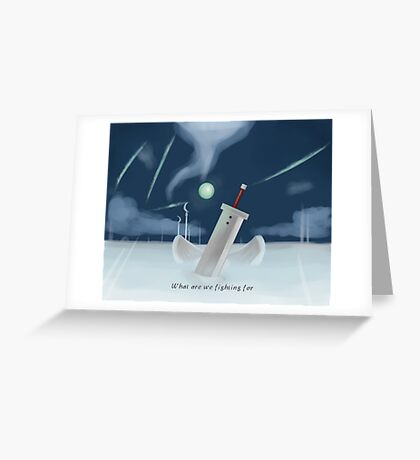 Cloud Strife - Dissidia  Greeting Card
