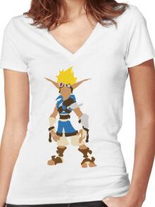 Jak-Jak and Daxter The precursor legacy  Women's Fitted V-Neck T-Shirt