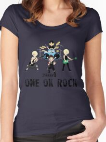 ONE OK ROCK band Women's Fitted Scoop T-Shirt