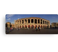 Panoramic view on the Arena di Verona in Italy Canvas Print