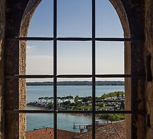 Superior view on Sirmione and Lake Garda in Italy by Yevhenii Volchenkov