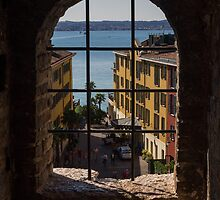 View on Lake Garda and Sirmione Old city in Italy by Yevhenii Volchenkov