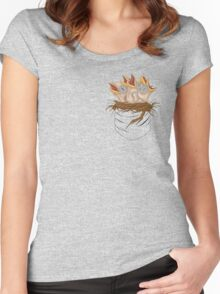 Naked baby birds Women's Fitted Scoop T-Shirt