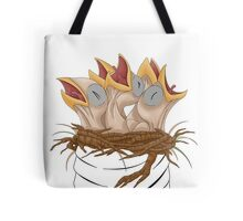Naked baby birds Tote Bag