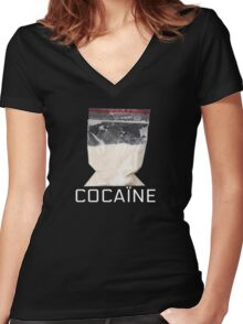 Cocain Women's Fitted V-Neck T-Shirt