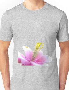 Tilted Pink Flower (isolated) Unisex T-Shirt