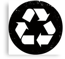 Recycle (black) Canvas Print