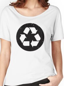 Recycle (black) Women's Relaxed Fit T-Shirt