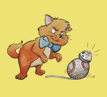 CAT CHASING BB8 One Piece - Short Sleeve