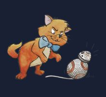 CAT CHASING BB8 One Piece - Long Sleeve