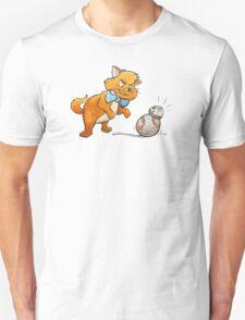 CAT CHASING BB8 Unisex T-Shirt