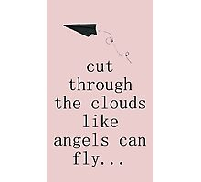 5 Seconds Of Summer Airplanes Word Art Pink + White Photographic Print