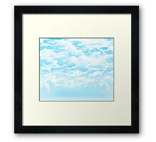 Sky Clouds Framed Print