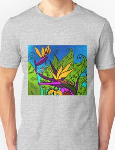 Abstract Bird of Paradise 2015 Unisex T-Shirt